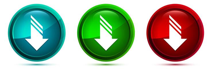 Download icon elegant round button set illustration Fotomurales