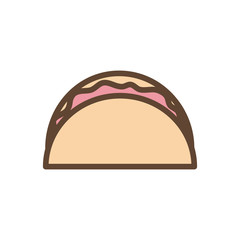 Isolated taco food line and fill style icon vector design