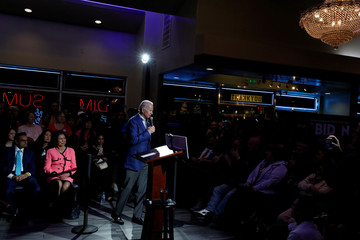 Democratic 2020 U.S. presidential candidate and former U.S. Vice President Joe Biden holds a campaign event at the Harbor Palace Seafood Restaurant in Las Vegas
