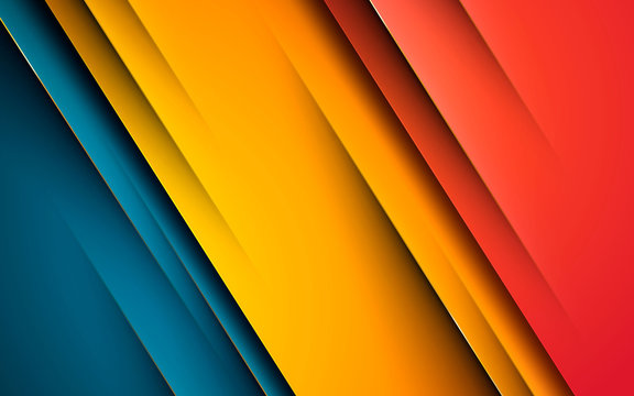 Modern abstract background hipster design. Yellow, orange and blue overlap layer background.