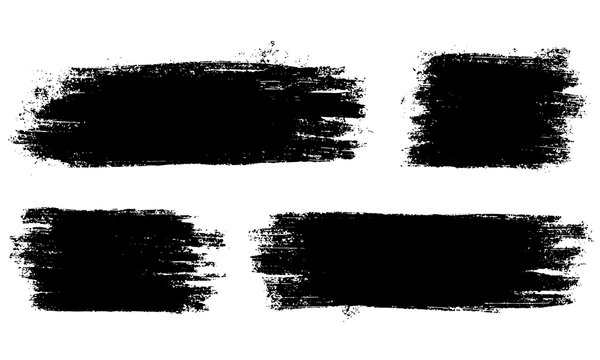 Set of vector brush strokes.Collection of vector brush hand drawn graphic element. grunge background.