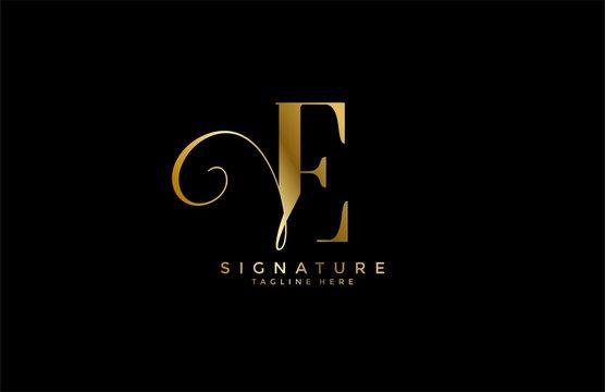 professional monogram signature letter E logotype