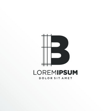 Letter B Logo Design with Architecture Element