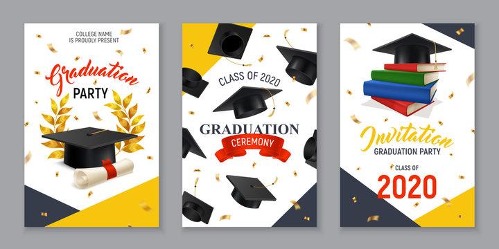 Realistic Graduation Banners