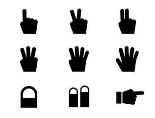 手や指の形のアイコンセット