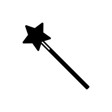 magic wand - magic stick icon vector design template