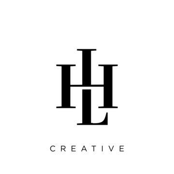lh or hl logo design vector icon