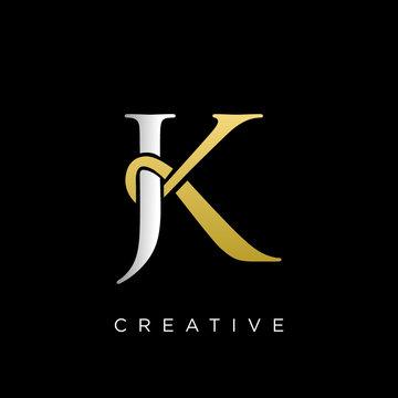jk logo design vector icon