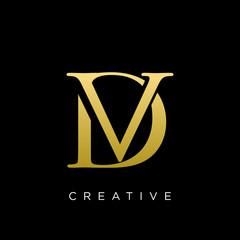 dv or vd logo design vector icon