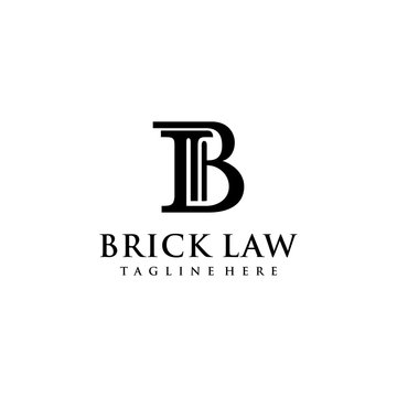 Creative modern initial B law firm logo symbol template