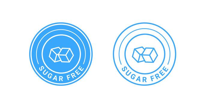 Sugar free badge sign vector design.