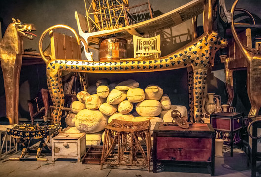 The tomb and treasures of King Tutankhamun