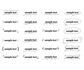 おしゃれな手書きの見出しやタイトルの装飾/素材/吹き出し/括弧