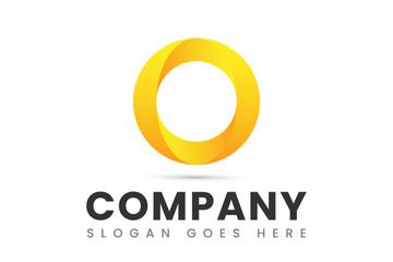 Circle O Logo Design 3D