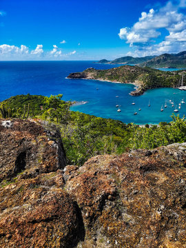 view of the island of antigua
