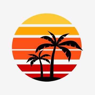 palm icon design illustration vector