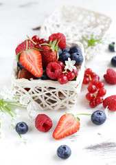 fresh natural organic berries for a healthy diet