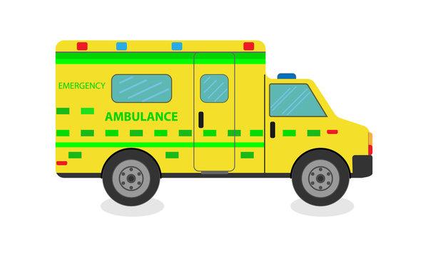yellow colour ambulance design art