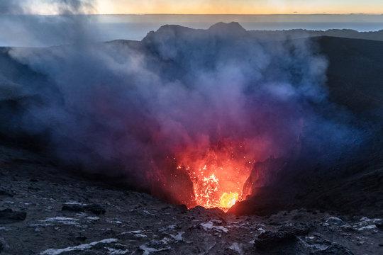 Yasur volcano eruption Tanna island