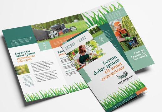 Gardening Service Trifold Brochure Layout