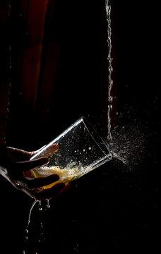 Spitting Asturian cider