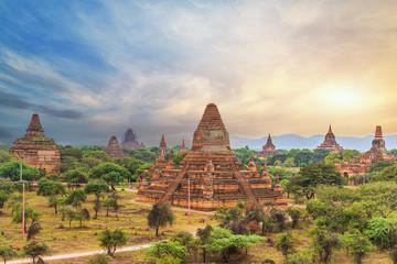 The Temples of bagan at sunrise, Myanmar