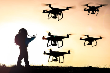 professional drone use, training and driving