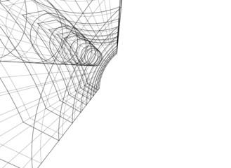 Modern building concept. Architecture 3d