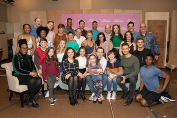 The cast Photo Call for MRS. DOUBTFIRE Meet and Greet with Cast and Creative Team