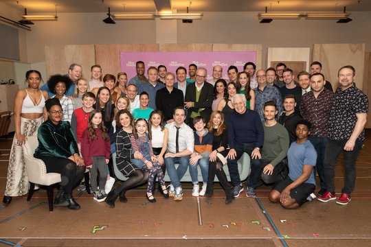 Cast and creative Photo Call for MRS. DOUBTFIRE Meet and Greet with Cast and Creative Team