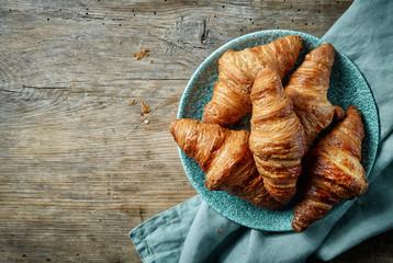 freshly baked croissants Fototapete