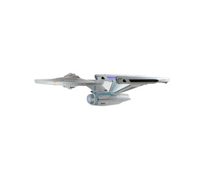 Editorial of USS NCC-1701 Enterprise Space ship isoloated on white