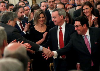 Trump celebrates his acquittal in his U.S. Senate impeachment trial in Washington, U.S.