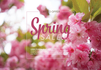Spring Sale Flyer Layout
