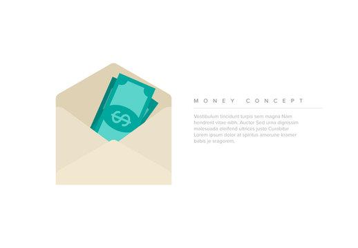 Money Concept Illustration Layout
