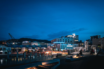 Wall Mural - Night scenery of the Waterfront in Wellington City