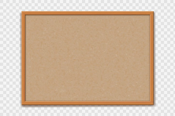 Empty office cork bulletin board template for worksheet