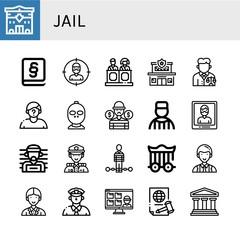 Set of jail icons