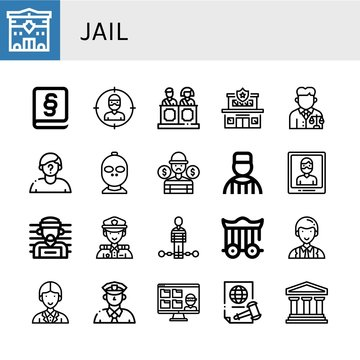 Set of jail icons