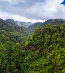 Aerial view over Juan Castro Blanco National Park in Costa Rica