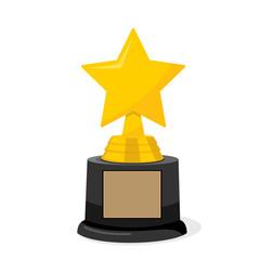 Golden cinema hollywood academy star trophy award