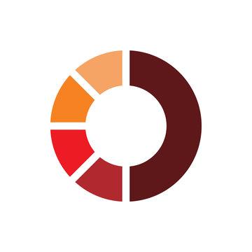 circle creative color loading logo design