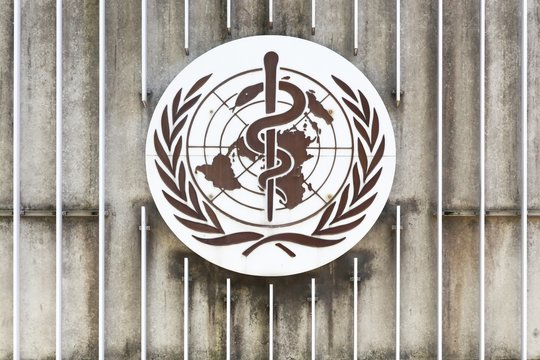 Geneva, Switzerland - August 14, 2016: The World Health Organization also called WHO is a specialized agency of the United Nations that is concerned with international public health
