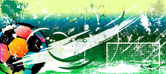 abstract background for soccer/football, design template, great soccer event, with strokes and splashes, copy space