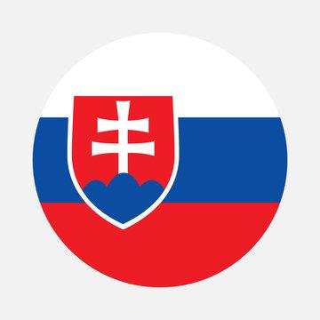 Slovakia flag circle