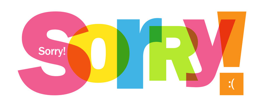 SORRY! colorful vector typography banner