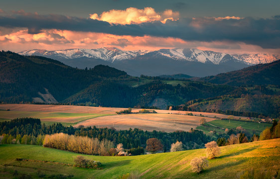 spring view of the Low Tatras