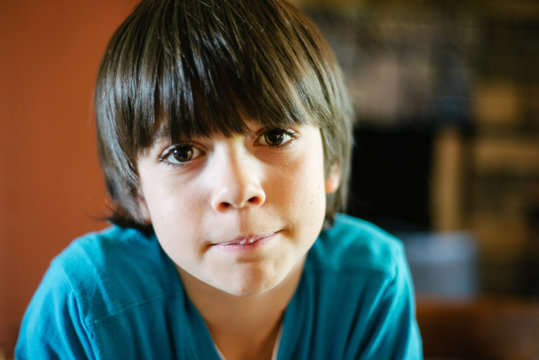 portrait of 8 year old male child