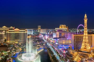 Papiers peints Las Vegas Las Vegas strip as seen at night