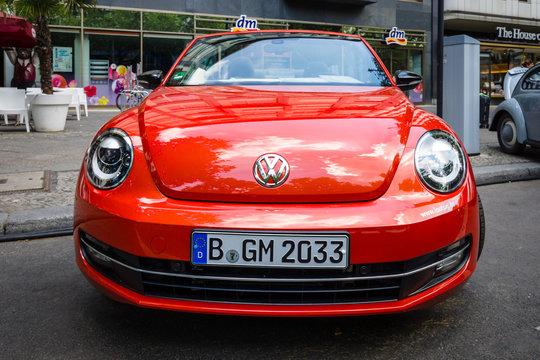 BERLIN - JUNE 05, 2016: Compact car Beetle Cabriolet, 2016. Classic Days Berlin 2016.